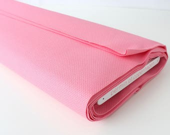 """Hot Pink Permin Aida Fabric 14ct Embroidery Fabric Sold per 4""""/ 10 cm Wichelt Pink Fabric 100% Cotton Candy Pink Stitch Fabric Hot Pink DIY"""