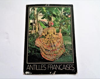 Postcard of Antilles, French Antilles, French Carribean, Vintage Postcards, Vintage french Postcard, Travel Postcard, 80s
