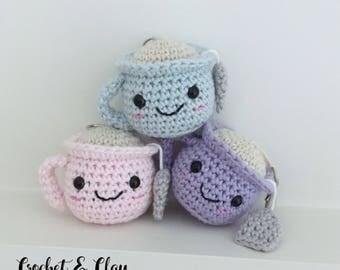 Teacup Keychain ~ Amigurumi ~ Crochet Teacup