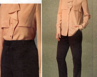FREE US SHIP Vogue 1414 Sewing Pattern Designer Anne Klein Shirt Pants Size 8/16 16/24 Bust 30 32 34 36 38 40 42 44 46 Out of Print 2015