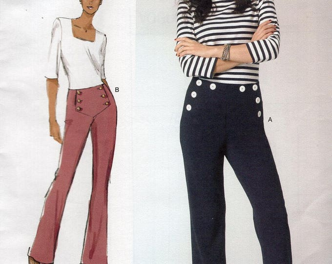 FREE US SHIP Vogue 1464 Sandra Betzina Today's Fit Button Flap Sailor Pants Custom Fit Waist 26-50.5 New Sewing Pattern Out of Print