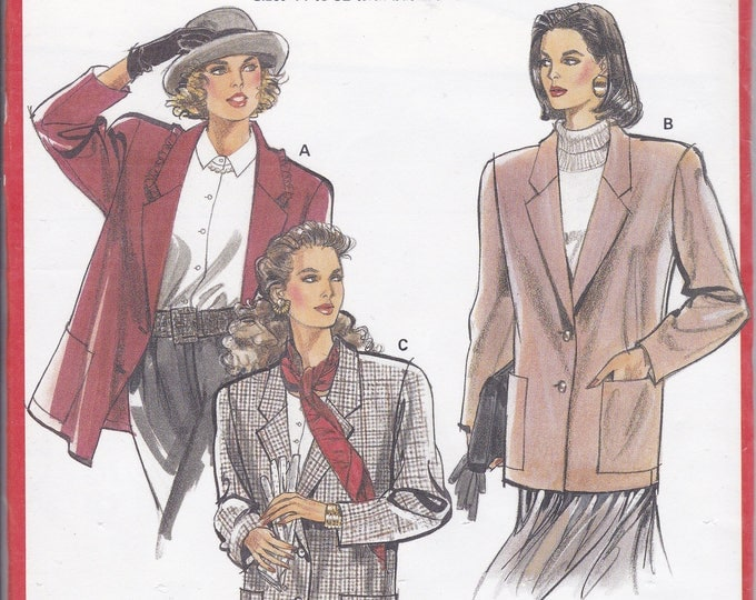 FREE US SHIP Burda 5221 Retro 1990s 90's Sewing Pattern Box Jacket Size 12 14 16 18 20 22 24 26 Bust 34 36 38 40 42 44 46 48 Uncut Plus