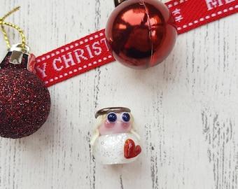 Angel Bead - Lampwork Angel - Christmas Angel - Glass Angel - Angel Decoration - Lampwork Glass - Glass Beads - Angel - Christmas Beads - UK