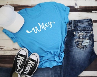 Wifey Short Sleeve Tee | Multiple Color Options