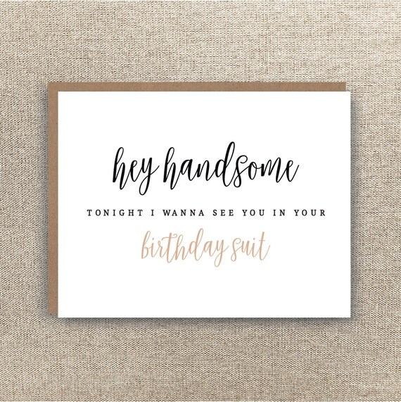 Birthday Suit Card Boyfriend Birthday Card Husband – Birthday Cards Boyfriend