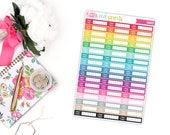 Drink Tracker Planner Stickers for the Erin Condren Life Planner, Tracker Sticker, Health Planner Sticker - [P0647]
