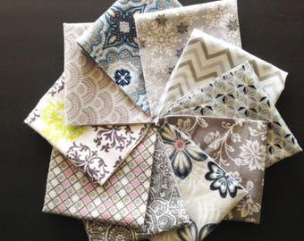 Handkerchief Womens, Set of 10, Modern Handkerchief,,Flannel Handkerchiefs, Reusable Tissues, Paperless Hankies,Womens Handkerchief  WH828