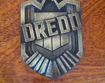 Customisable 3D printed and hand finished Judge Dredd Badge, Unofficial