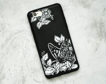 Fuck Off Eco-Friendly Soft Phone Case, iPhone 6/6s, Butterfly Illustration, Corn Rubber, Ethical, Tattoo Style