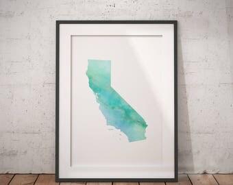 California Print | Marble State Art, LA City Art, Cali Art, Socal, California Abstract, West Coast Art, Sunshine State, Cali Wall Art
