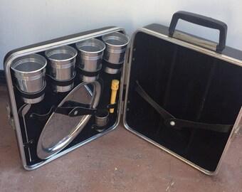 "Vintage ""Mad Men"" mid century Trav-L-Bar portable bar suitcase!"