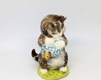 Vintage Miss Moppet, Royal Albert England Figurine, Beatrix Potter's Miss Moppet, Beatrix Potter Figurine 1989, F.Warne and Company 1954