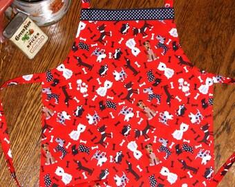 Child Size Dog Print Apron, Assorted Dog Kids Apron, Gifts under 15, Boy or Girl Apron, Child Chef Apron, Kids Animal Apron