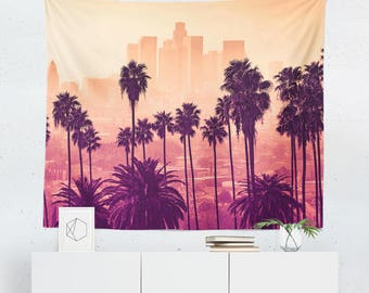 Los Angeles Tapestry   Los Angeles Wall Tapestry   Los Angeles Wall Décor   Los Angeles Gift   Los Angeles Wall Art   Los Angeles Art