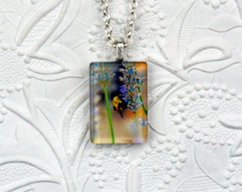 Bumblebee Necklace Bee Necklace Bumblebee Jewelry Bee Jewelry Photo Necklace Photo Jewelry