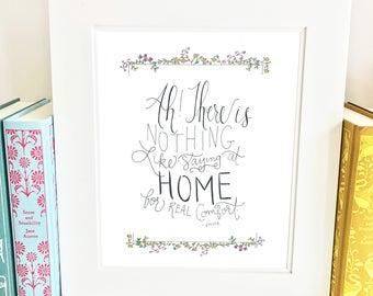 Jane Austen print - quote - wall art - literary -QCE