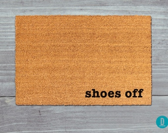 Shoes Off Doormat, Shoes Off Door Mat, Shoes Off Mat, Shoes Off Welcome Mat, Housewarming Gift, Shoes Off, Shoes Doormat, Shoes Door Mat