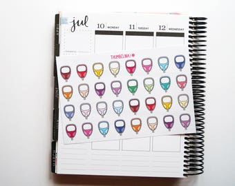Glucose Meter Planner Stickers for Erin Condre, Kikki K, Happy Planner and more (TP211)