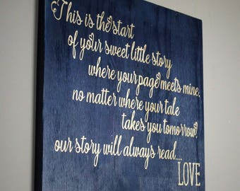 Adoption Gift - Foster Parents Gift - Adoption Sign - Gifts for Foster Parents - Adoption Wall Art - Foster Mom - Foster Love - Wooden Sign