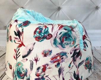 Ice Roses Aqua Bumbo Seat Cover