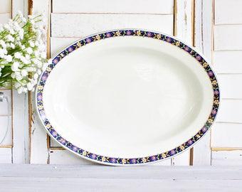 "Vintage Johnson Brothers ""Oakworth"" Serving Platter 12 1/2"" | Decorative Platter, Small Platter, Johnson Brothers Platter, Pretty Platter"