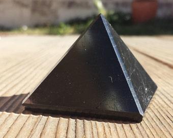 BLACK TOURMALINE natural large gemstone crystal pyramid 50mm [23]