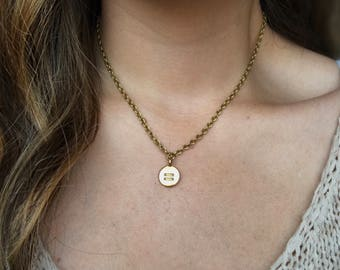 Equality necklace, Feminist necklace, Equal sign necklace, Human rights necklace, Gold charm necklace