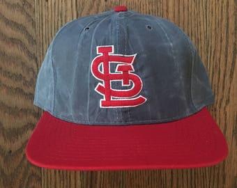 Vintage 90s Starter St. Louis Cardinals MLB Snapback Hat Baseball Cap