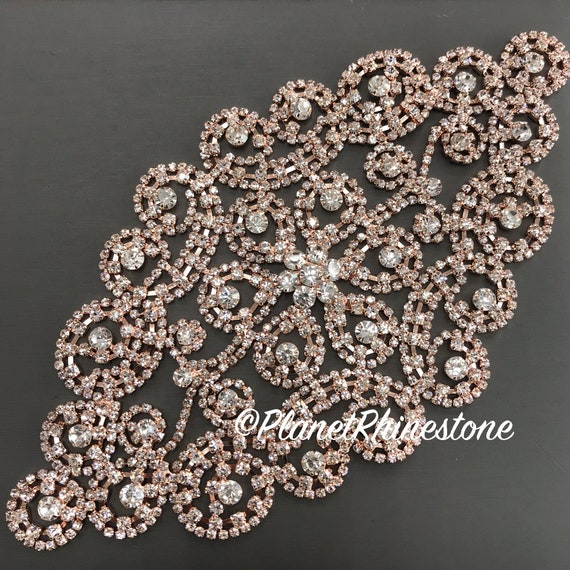 Rose Gold Rhinestone Applique #A-04