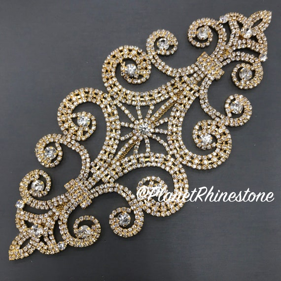Gold Rhinestone Applique #A-05