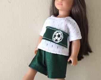 six inch mini doll clothes:  soccer uniform