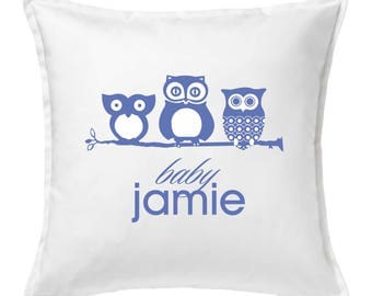 Baby Owls Custom Pillow zip cover