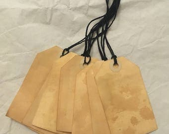 Tea Stained Tags (25)