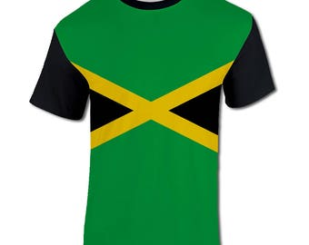 Men's All Over Print Jamaican Flag Jamaica Holiday Festival T Shirt
