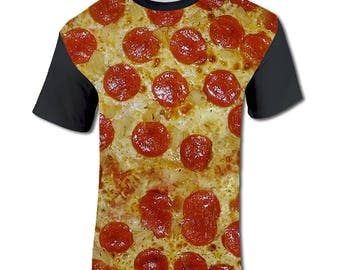 Men's Holiday T Shirt Pepperoni Pizza Novelty Gift Ideas for Men