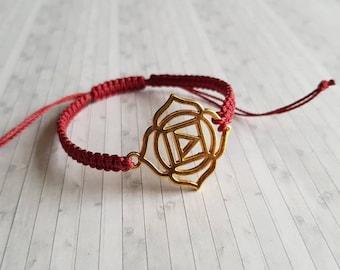 MULADHARA CHAKRA BRACELET | braided,knotted,macrame,woven | Root Chakra