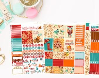 Autumn Mini Kit, planner stickers