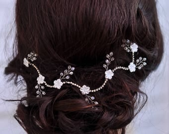 Crystal headband Bridal hair jewelry Bridal headband Wedding headpiece Rhinestone headband Crystal hair accessories Bridal hair flowers