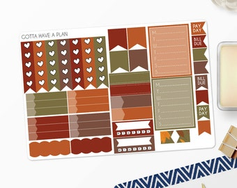 Planner Stickers Give Thanks Functional Items for Erin Condren, Happy Planner, Filofax, Scrapbooking