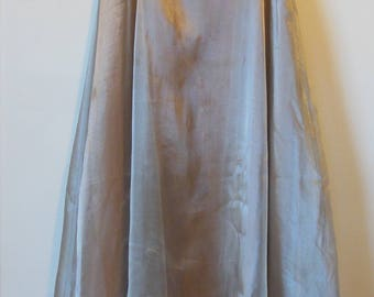 Ronni Nicole by Ouida Vintage Formal Prom Layered Maxi Skirt Shiny Blush Tan Size 8