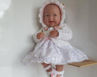 Handmade Baby Dolls Clothes for 14 inch dolls - BERENGUER / CUPCAKE La Newborn / Reborn or similar
