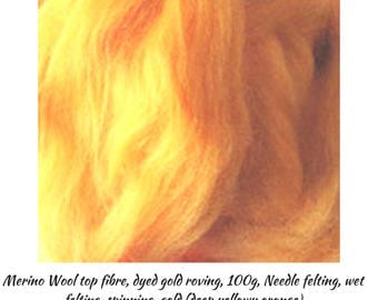 Gold Merino Wool is a Great Fibre for Top Quality Roving Projects, One Only, Excess Stock, Great Prices, Bargains,DETASH