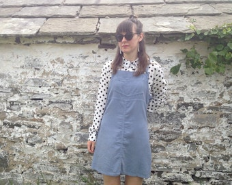 1970's Baby Blue Corduroy Pinafore