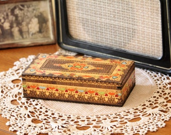 Wooden Box - Hand Carved Wooden Box with Lid - Jewelry Box - Vintage Wood Box - Keepsake Box - Storage Box - Memory Box - Trinket Box