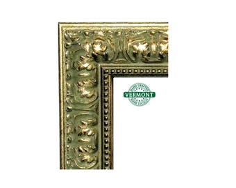 Wide Ornate Gold Picture Frame, Baroque Style, Antique Gold, Real Wood, Handmade 4x6 5x7 8x10 11x14 16x20 7x20 18x24 20x24 24x30 23x27 24x36