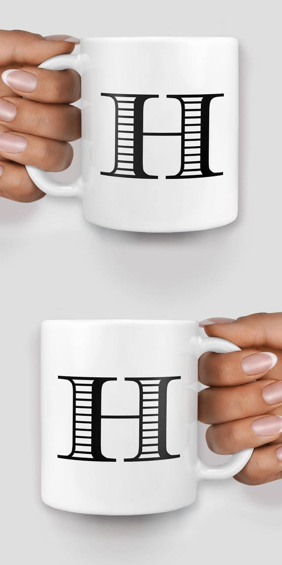 Customized initial mug - Christmas mug - Funny mug - Rude mug - Mug cup 4P018