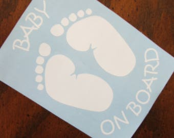 Baby on board- Vinyl decal- Sticker- Baby-car- Baby Shower