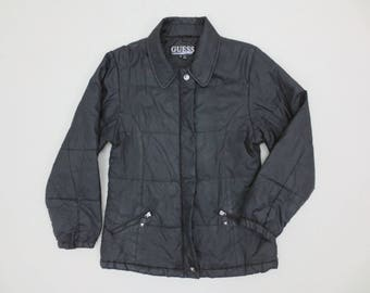 Guess Windbreaker Vintage Guess Jacket Guess Quilted Casual Jacket Mens Size S/M