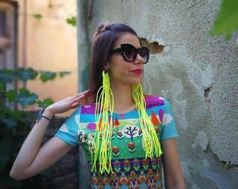 NEW Colorful Dress / Sexy Printed Dress / Hippie Dress by Fabra Moda Studio / D117