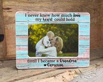 ON SALE  Grandmother Gift Grandma Frame  Grandmother  Personalized Picture Frame Gift  he calls me Grandma